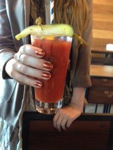Perfect nails to grip the Virgin Bloody Mary
