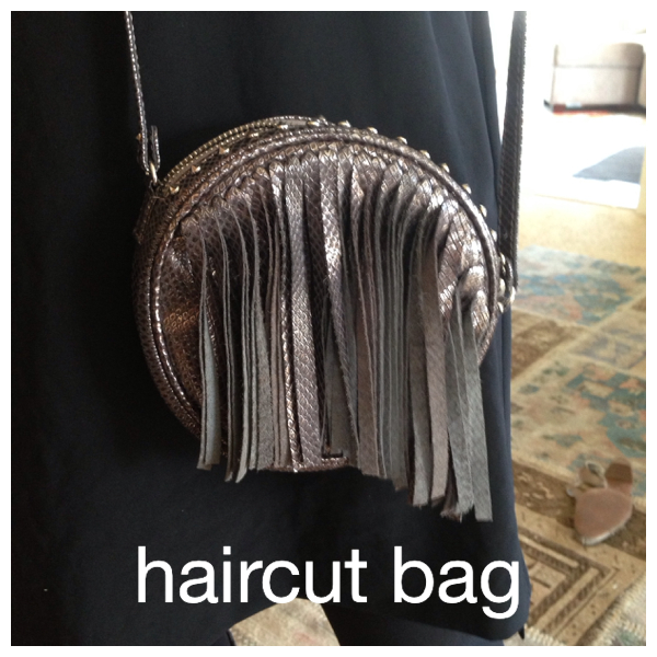 A short surgical procedure on the fringe made the bag wearable.