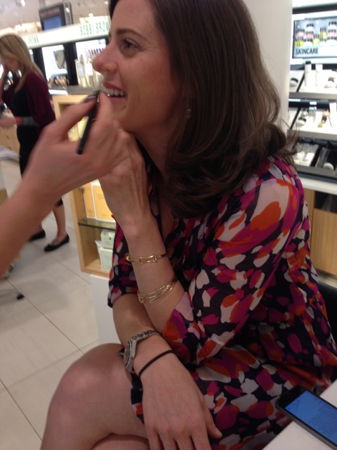 Alma's granddaughter, Erin, gets a new lipstick shade for spring.
