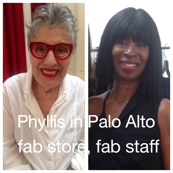 Enjoying our shopping trip to Phyllis at 540 Ramona in Palo Alto