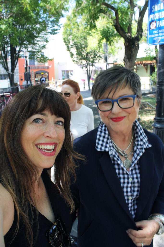 Nancy, owner of Uber Optics, and me in blue