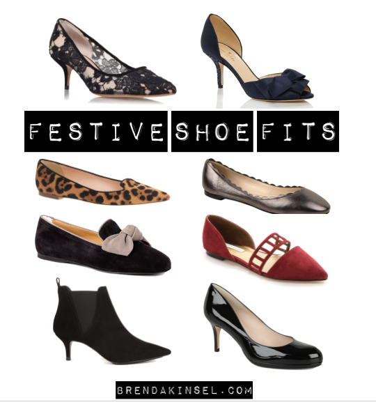 Dig out a festive shoe to wear to your event.
